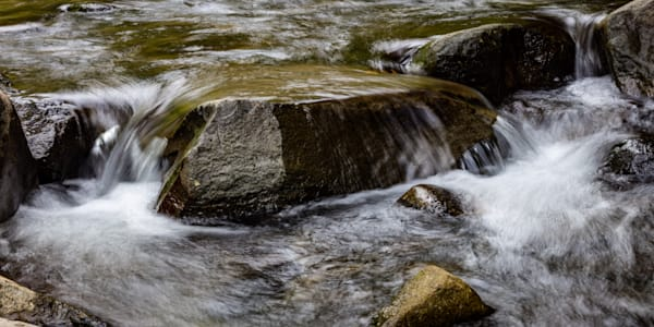 A Calming Intensity; water dancing over rock