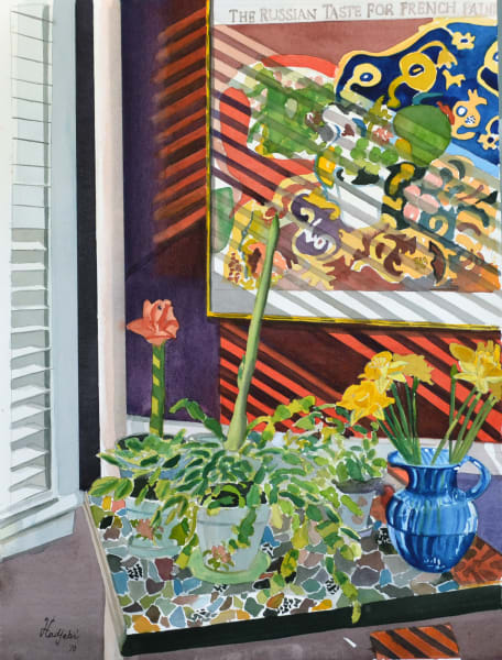 Still life with flowers - the original on sale at Tower Gallery on Sanibel Island