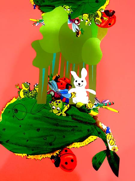 Odeta Xheka Visuals | Nursery decor Bunny red art canvas prints