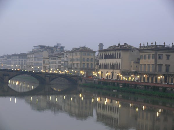 Evening along the Arno