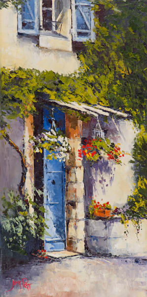 The Blue Door, art print by James Pratt