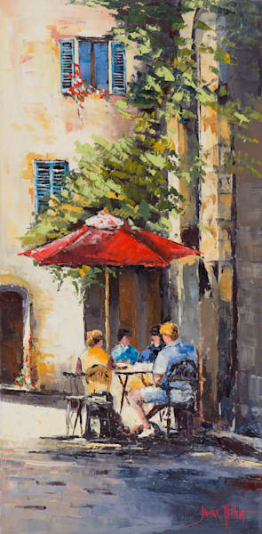 Corner Cafe, art print by James Pratt
