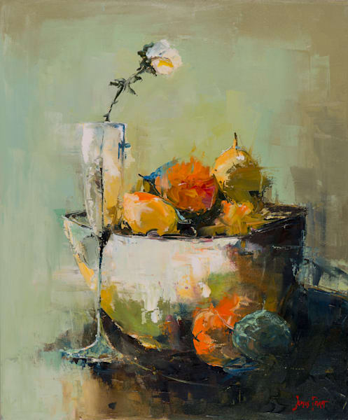 Fruit Bowl, art print by James Pratt