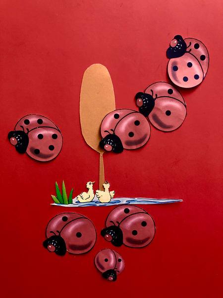Odeta Xheka Visuals | Nursery art Bumblebee red art canvas print