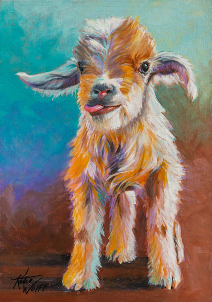 14x20 Garrety Goat On Canvas | HFA print gallery