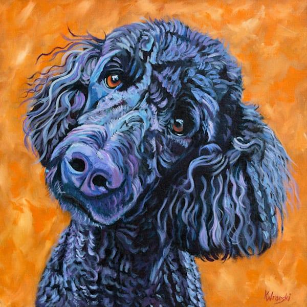 12x12 Purple Poodle On Paper   HFA print gallery