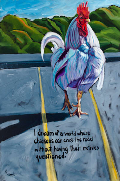 12x18 Don't Ask Why They Cross The Road On Canvas | HFA print gallery