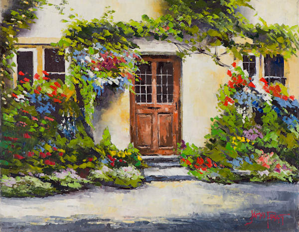 Cotswold Cottage, art print by James Pratt