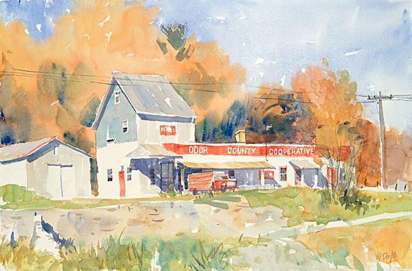 Sister Bay Feed Mill, Door County Cooperative fine art print by Bill Doyle.
