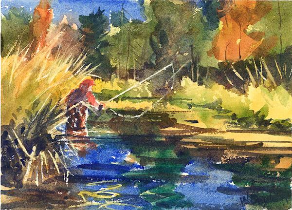 Comet Creek I fine art print by Bill Doyle.