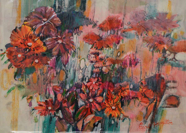 Untitled (Bouquet of Flowers) - Vintage Early Work by Artist Earl Hamilton