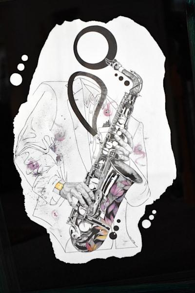 Saxaphone Identity (Sold) Art | thomaselockhart