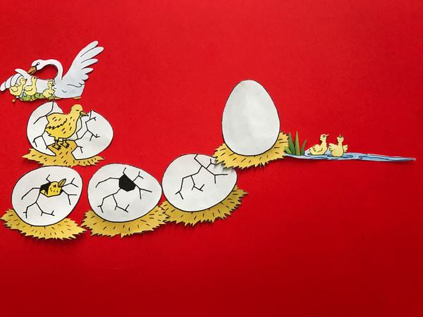 Odeta Xheka Visuals | Bird egg hatching red art canvas prints