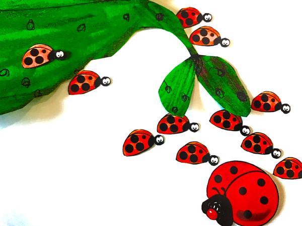 Odeta Xheka Visuals | Instructional art Ladybug for toddlers