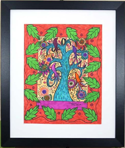 Mexican Art Folk Art Birds, Original Drawings of Birds, Fine Art and Paintings for Sale by Teena Stewart of Serendipitini Studio