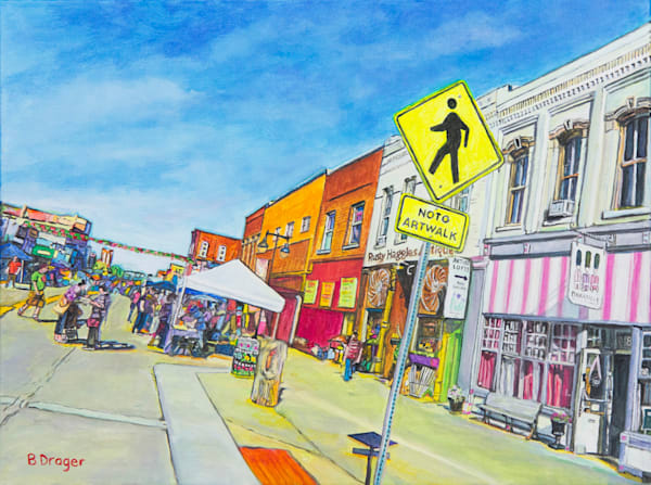 NOTO Art Walk by Becky Drager | Kansas Art Gallery