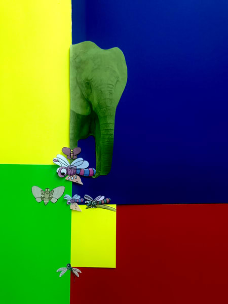 Odeta Xheka Visuals | Art for Kids featuring colorful elephants