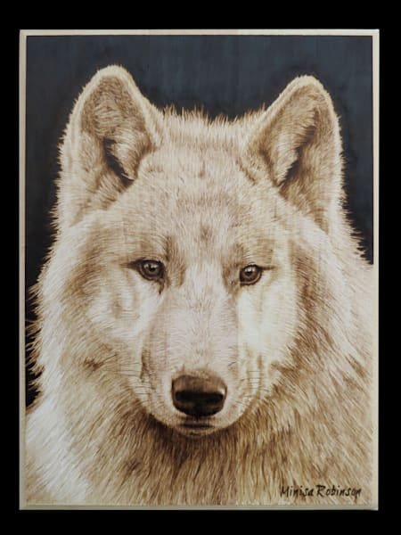 Alpha- (White Wolf Original Woodburning)