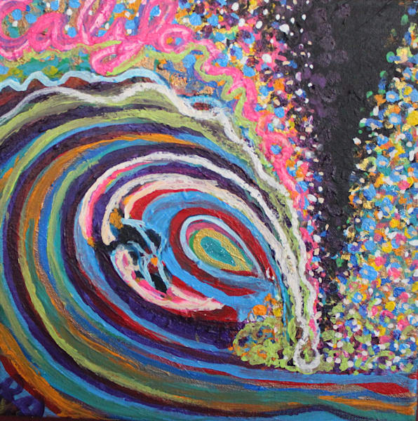 california ocean art by artist ryan adams is waves beaches and