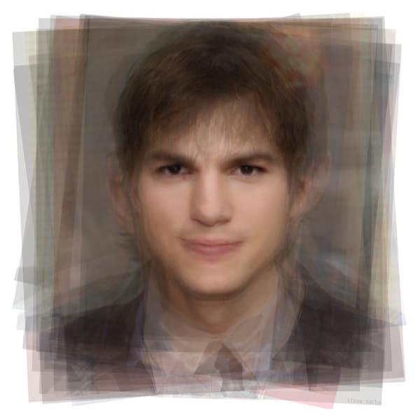 Overlay art – contemporary art prints of Ashton Kutcher for sale