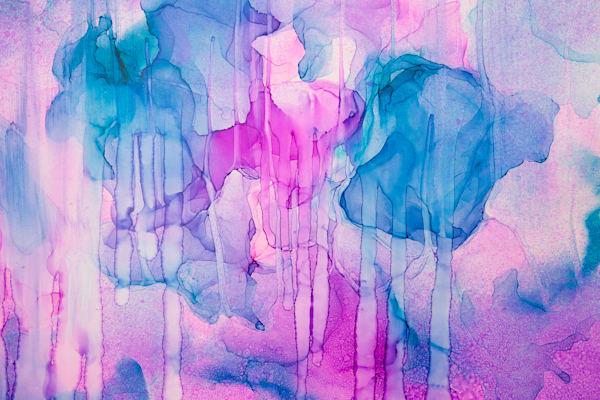 """Rainsong"" Abstract Fluid Painting Fine Art Print"