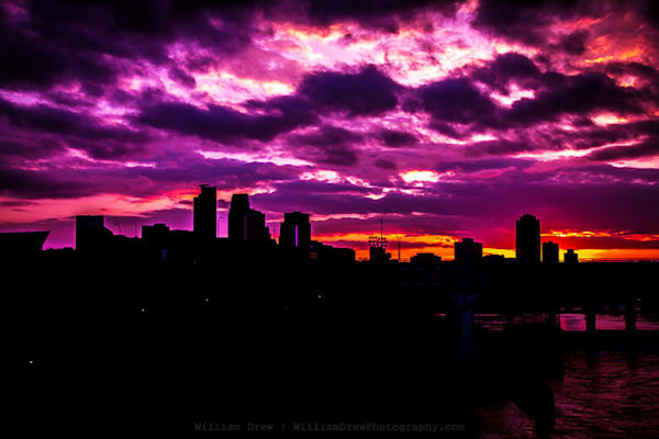 The Sky Was All Purple - Minneapolis Wall Murals | William Drew