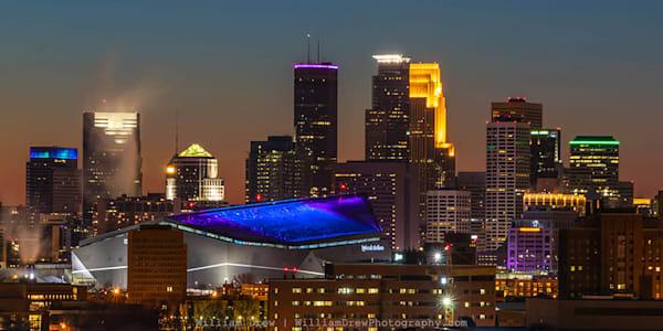 Super Bowl Sunset - Minneapolis Wall Murals | William Drew Photography