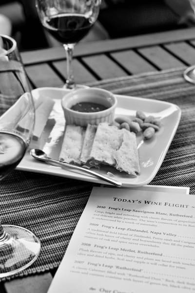 Wine Flight and Cheese, BW