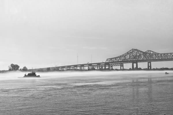 Mississippi Channel at Bridge, Riverwalk NOLA
