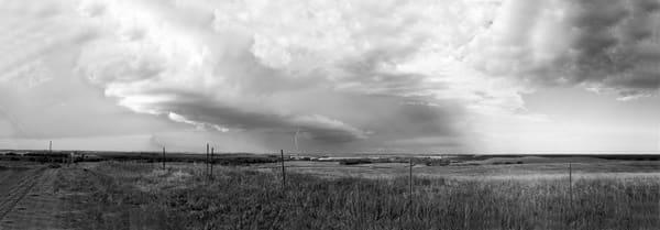 Thunderstorm On Iron Mountain Nebraska, gage county, dairy farm