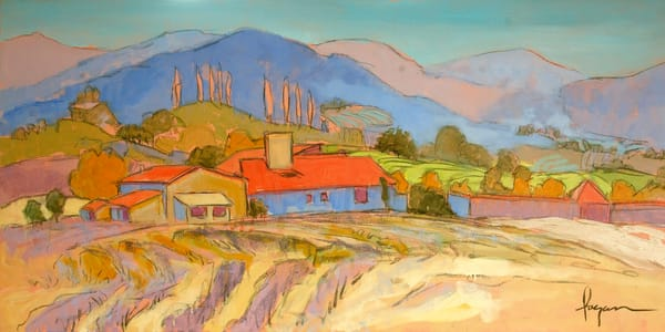 Provence Landscape Painting Fine Art Print by Dorothy Fagan