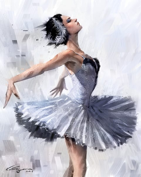 Ballerina 2  -Fine art painting by Vahe Grigorian, Los Angeles artist, prints available for sale on canvas, paper HD Acrylic and more.