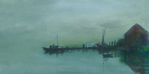"""Foggy Wharf 6"""" x 12"""""""