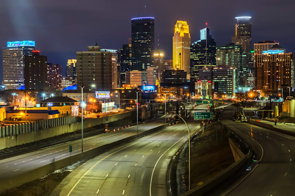 Empty 35W 1 - Minneapolis Skyline Art | William Drew