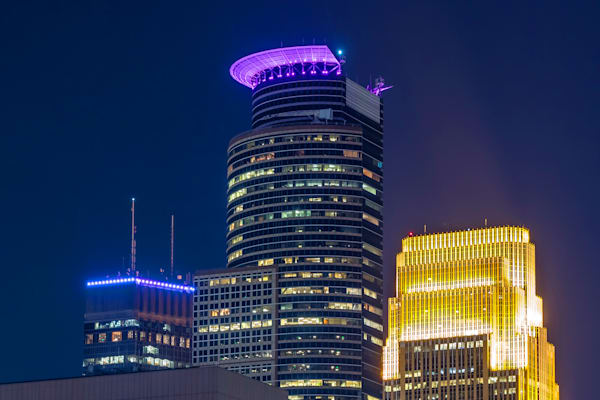 Purple Minneapolis 4 - MPLS Skyline Photos | William Drew