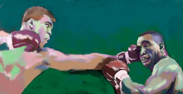 Muhammad Ali painting | Sports artist Mark Trubisky | Custom Sports Art