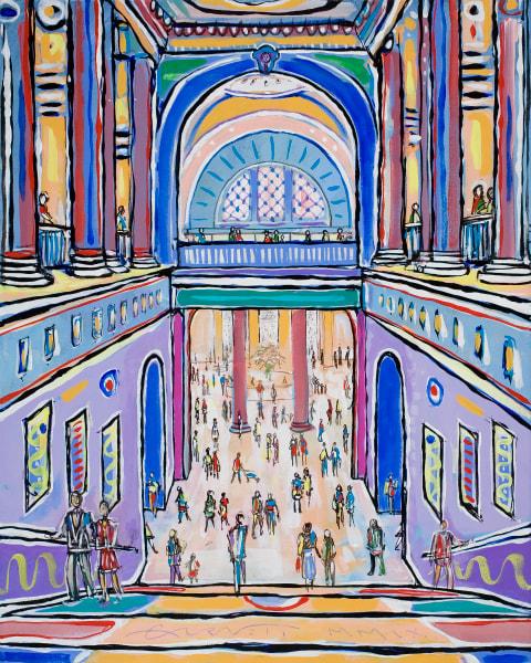 Met Staircase Art | Sandy Garnett Studio