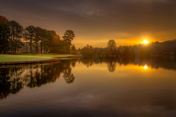 Just Another Amazing Dawn at The Golf Club of Georgie, Lakeside Course, 12th Hole