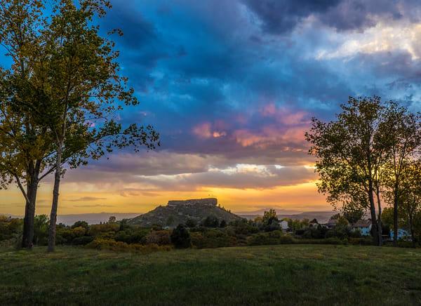 Landscape Photograph Sunset - the Rock in Castle Rock Colorado