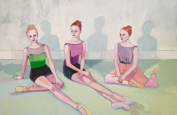 "Composure, 24"" x 36"" original acrylic on canvas painting by Sarah Creasman."