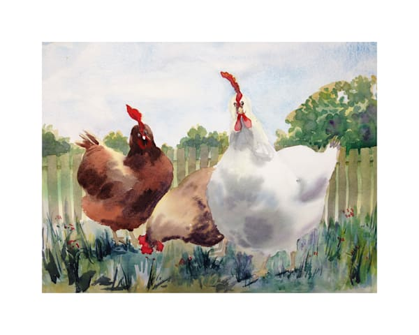 8x10 Spring Chickens On Paper | HFA print gallery