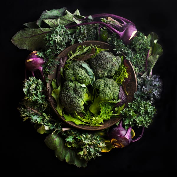Broccoli and Kohlrabi Mandala