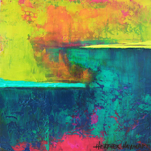 Color Abloom colorful abstract print of original painting