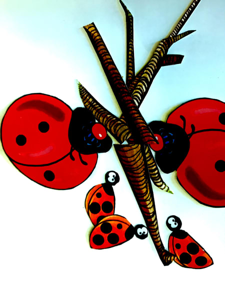 Odeta Xheka Visuals | Ladybug interactive art for toddlers