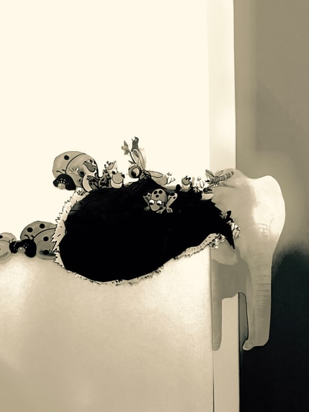 Odeta Xheka Visuals | Interactive monochromatic nursery art