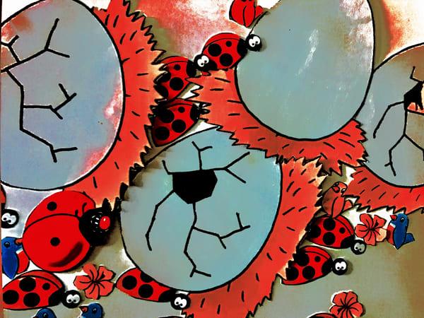 Odeta Xheka Visuals | Interactive art print Ladybug for toddlers