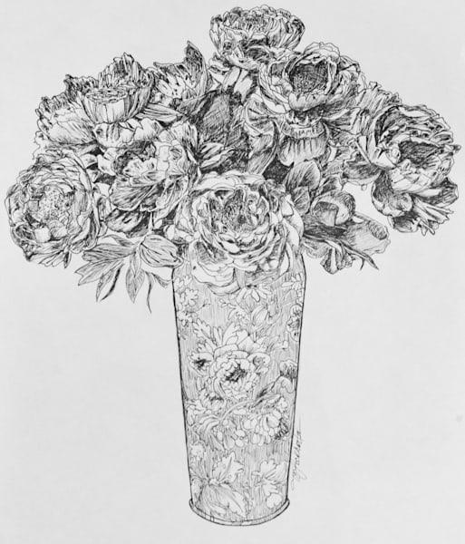 Frosted Rose Vase Art | thomaselockhart
