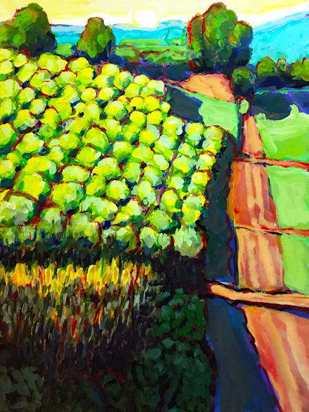 Down By The Vineyard Art | Charles Wallis