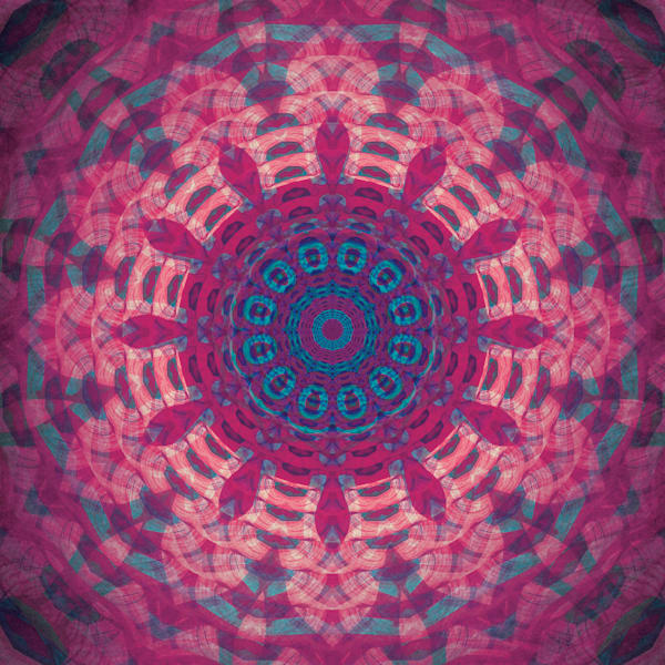 """Indian Paintbrush"" Mandala Meditation Fine Art Print"