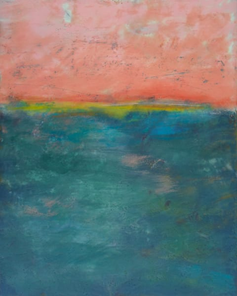 Lost Emerald - Abstract Canvas Wall Art - Orange Paintings